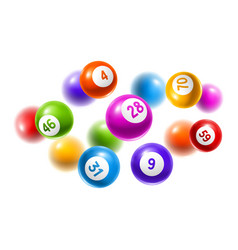 Bingo or lottery colored number balls vector