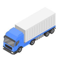 box delivery truck icon isometric style vector image