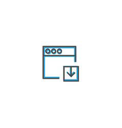 browser icon design interaction icon line vector image