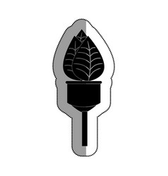Bulb light with leafs ecology symbol vector