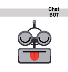 Cartoon robot face smiling cute emotion show vector