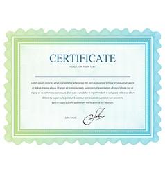Certificate 1 vector image