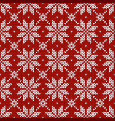 Christmas traditional knitted seamless pattern vector