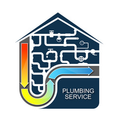Cleaning of water pipes and plumbing vector