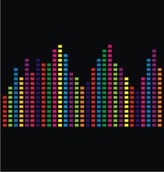 Colorful bars vector
