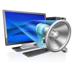 computer megaphone concept vector image