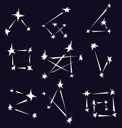 Constellation element shapes set vector