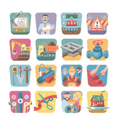 construction icons constructive equipmentor vector image