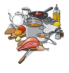 Cooking food vector