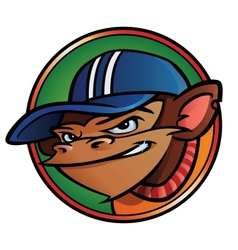 Cool monkey with cap vector image