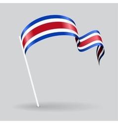 Costa Rican wavy flag vector image