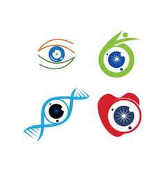 eye care health logo design template icon set vector image