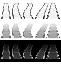 Film strip for photography concepts set of vector