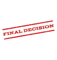 Final Decision Watermark Stamp vector image