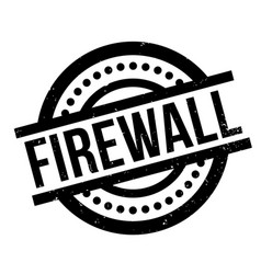 Firewall rubber stamp vector