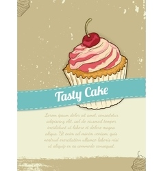 Food Banner with Cake for advertising vector