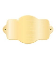 Golden nameplate Blank metal name plaque with vector