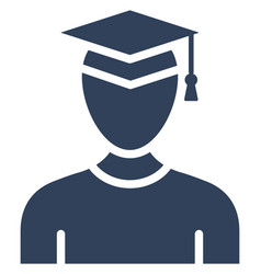 Graduate icon which can easily modify or e vector