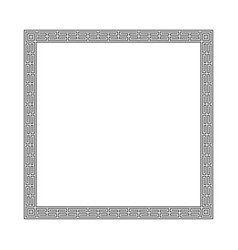 greek frame vector image