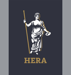 Greek goddess hera vector