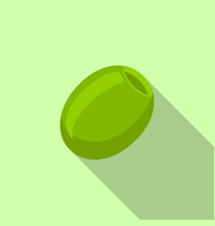 green olive icon flat style vector image