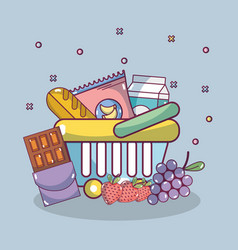 groceries and healthy food vector image