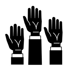 hands up icon simple style vector image
