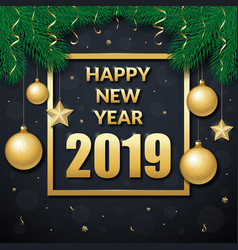 happy new year 2019 background vector image