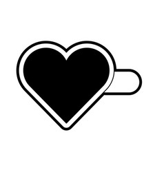 heart hairpin vector image