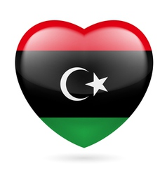 Heart icon of Libya vector image