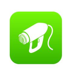 Heat power tool icon green vector