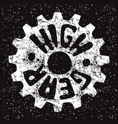 High gear emblem vector