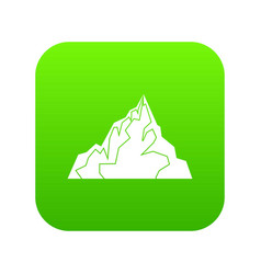 iceberg icon digital green vector image