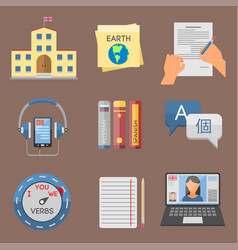 Icons for educational programs vector