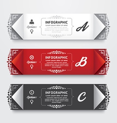 Infographic Design modern Vintage Labels template vector image