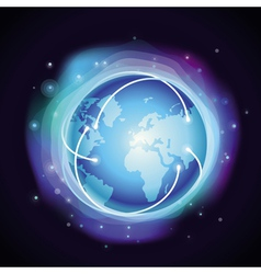 Internet concept - glowing globe vector