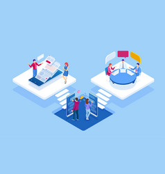 Isometric concept business analysis analytics vector