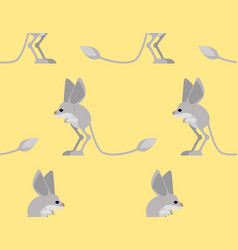 Jerboa pattern steppe animal background wildlife vector