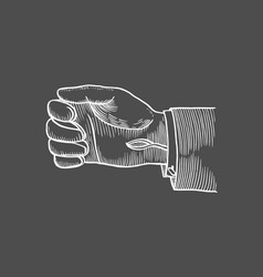 leather gloved on hand vector image