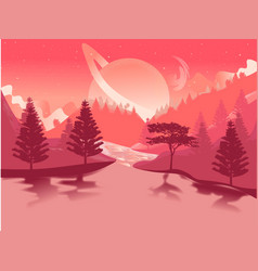 Living coral background twilight evening vector