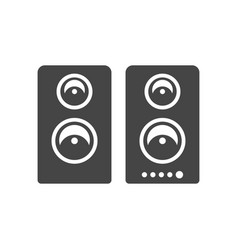 loudspeakers dynamic system bold black silhouette vector image