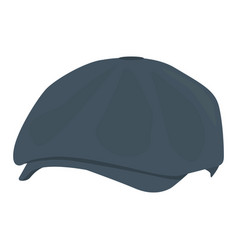 Mans hat icon on a white background grey vector