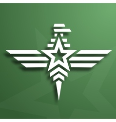 Military style eagle emblem vector