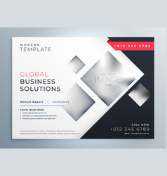 Modern business brochure presentation geometric vector