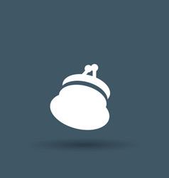 money bag icon on white background vector image