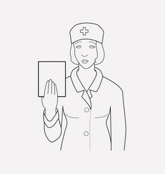 nurse icon line element of vector image