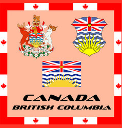 Official government elements of canada - british vector