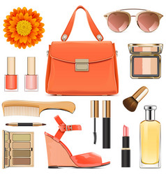 orange female accessories vector image