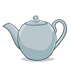 Painted teapot vector