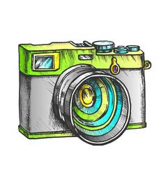 photo camera digital gadget color vector image